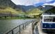 El cremallera de Núria, l'únic transport que arriba a la vall.