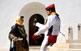 Ball pagès a la plaça de l'església de Sant Francesc. El vestit tradicional femení està format per set faldellins i la gonella, davantal, gipó, mantonet, l'emprendada (joies), un mocador al cap i, de vegades, capell. L'home, de blanc, du faixa i barretina.