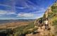 El Montsec d'Ares ofereix camins amb bones panoràmiques com aquestes de la vall d'Àger a la pista que mena a l'ermita de Pedra.