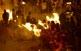 Desenes de torxes cremen a la plaça de Bagà.
