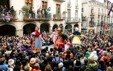 Els gegants de Solsona durant el carnaval