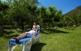 El prat dels banys de Sant Vicenç, a la riba del Segre, s'aprofita molt entre la primavera i la tardor per fer-hi activitats i tractaments a l'aire lliure.