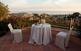 Des de la terrassa de Can Mora de Dalt, les vistes sobre Sant Vicenç de Montalt són espectaculars.