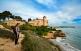 Vista del castell de Tamarit des del camí de la punta de la Mora, a Tarragona.