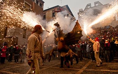 Nit de foc a Tarragona