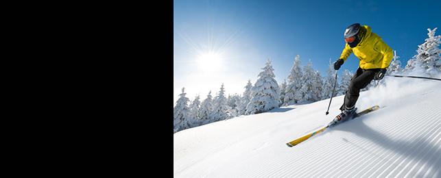 Esquiar, esquiador, neu, muntanya, hivern