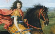 Llu�s XIV muntant a cavall