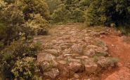 Un tram de la via romana del Capsacosta