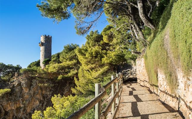 La torre Valentina, al camí de ronda entre Palamós i Sant Antoni de Calonge
