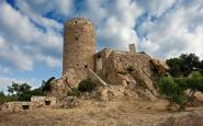 El castell de Burriac, a Cabrera de Mar