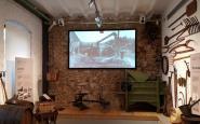 La sala del Museu del Bosc i la Pagesia dedicada al conreu del cereal i la vinya