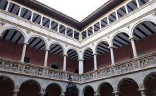El pati del col·legi de Sant Jaume i Sant Maties