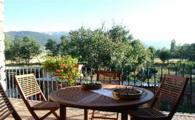 Vista dels voltants de la casa rural Cal Gintó