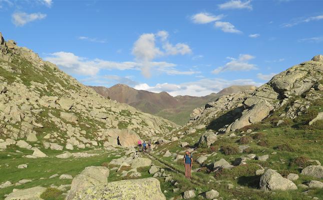 Al voltant de l'estany Tort, a la capçalera de la vall Fosca