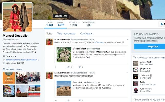 El compte de Twitter de Manuel Desvalls