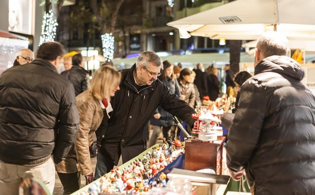 Parades a la Fira de Nadal a Sant Feliu de Guíxols
