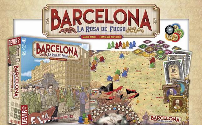 Joc de taula Barcelona, la rosa de fuego