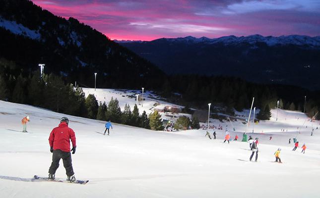 Esquí nocturn a Masella