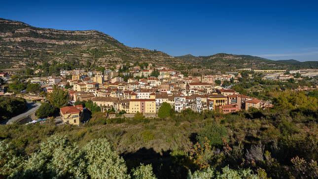 Fotografia aèria de Monistrol de Montserrat