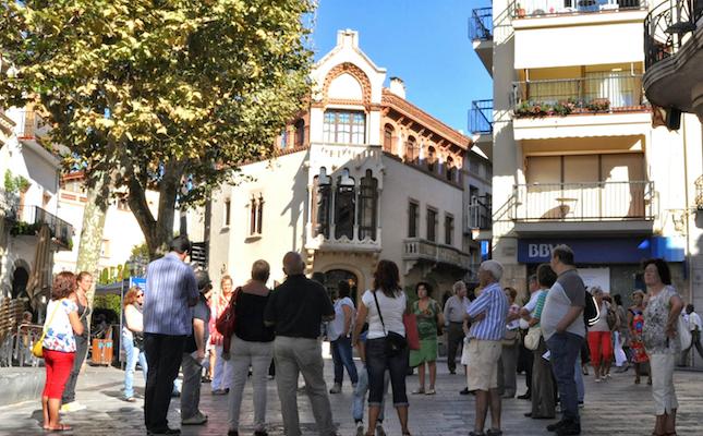 La Casa Domènech, a Canet de Mar, on residia la família Domènech-Roura