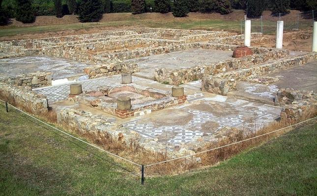 Una de les estances romanes visibles a Torre Llauder