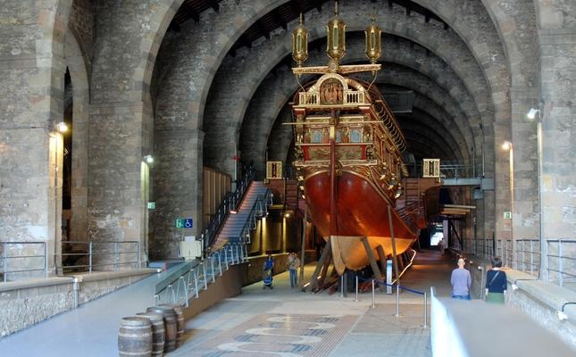 Vaixell exposat al Museu Marítim de Barcelona