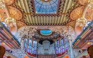 L'interior del Palau de la Música, obra de Lluís Domènech i Montaner