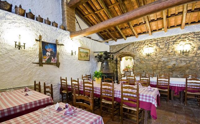La sala del restaurant El Vinyet