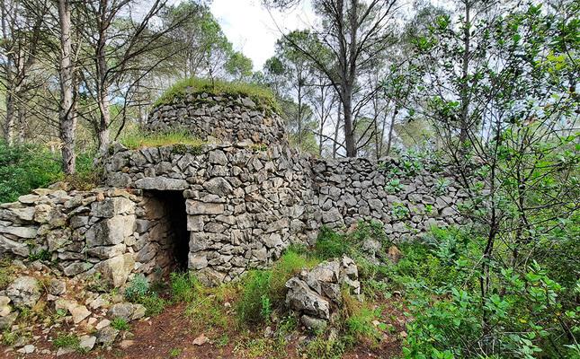 Construcció de pedra seca al Montgrí