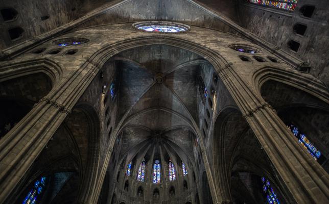interior catedral girona