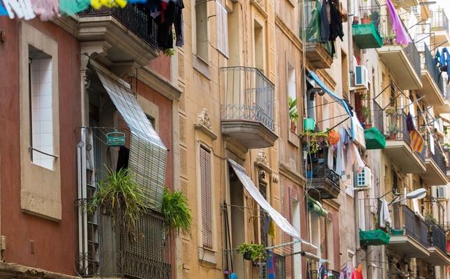 Balcons del barri de la Barceloneta