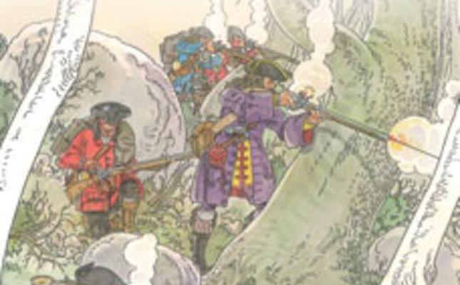 Il·lustració del combat d'Arbúcies