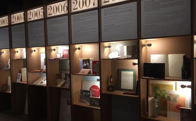 L'interior de l'exposició resumeix la carrera professional de Ruscalleda