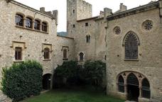 Interior del Castell de Santa Florentina, a Canet de Mar