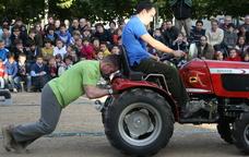 Una de les proves de l'Arrencaceps a la Festa del Most de Riudebitlles