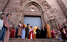 Recreació medieval a la Festa de la Sal de Cardona