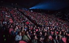 Exhibició d'una pel·lícula a l'Animac