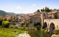 El riu Fluvià en el seu pas per Besalú