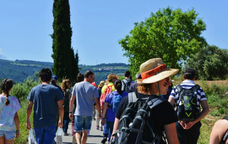 Participants de la 3a CEP Passes Solidàries - Caminada entre vinyes.