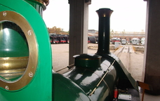 Una de les locomotores del Museu del Ferrocarril