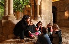 Visita al Monestir Sant Benet en família