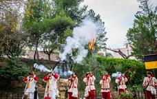 Recreació històrica dels Miquelets a la Fira d'Artesania de Capçanes