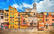 Volant amb globus sobre Girona