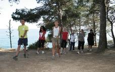 Activitats de marxa n�rdica a Lloret de Mar