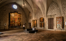 Una de les sales del Museu d'Art de Girona