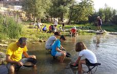 A la recerca d'or al riu Segre