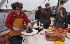 Degustació de garoines a bord del Rafael
