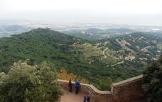 Quina vista des del castell de Burriac!
