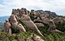 Panoràmica del massís de Montserrat