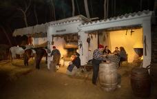 Escena del Pessebre vivent de Sant Fost de Campsentelles